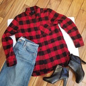 MADWELL Red & Black Buffalo Plaid Shirt